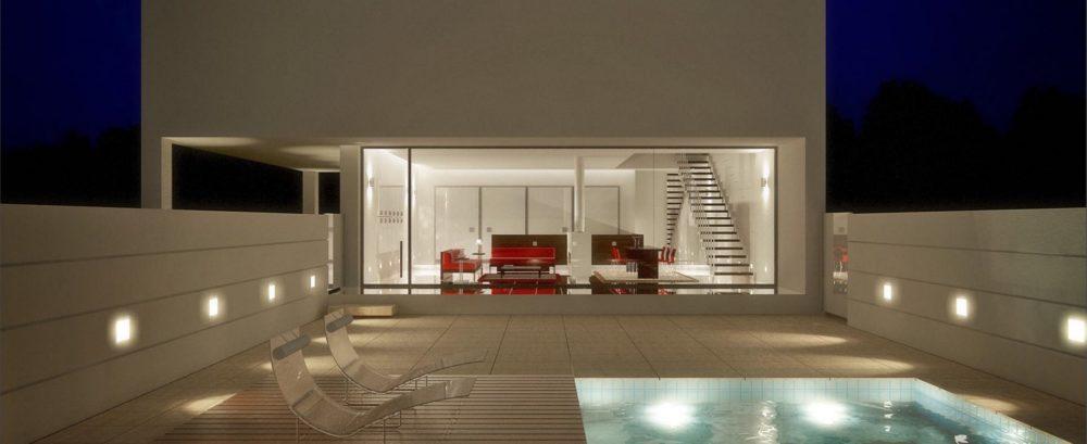 Attico arredo terrazzo piscina