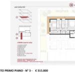 App. primo piano N. 3 Noventa