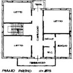 1 Piano plan. villa Torreglia