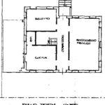 1 plan. villa Torreglia