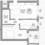 App. A 12 piano secondo 2 camere 1 bagno