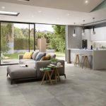 soggiorno-con-cucina-a-vista, affaccio giardino